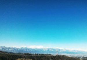 初冠雪の日本アルプスを見て爽やかな気持に