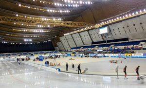 ワールドカップ・スピードスケート大会へ 27カ国の選手たち